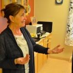 Eva-Christina, som representerade Hammarö församling, hjälpte till med logistiken