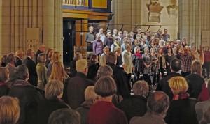 Vred Fred o församling sjunger. Foto: Tord Harlin