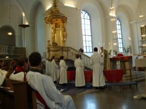 Biskop Esbjörn och fyra prästkandidater i Karlstad