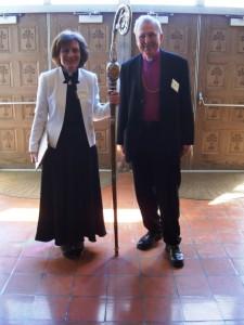 ärkebiskop Susevics och ärkebiskop emeritus Rozitis