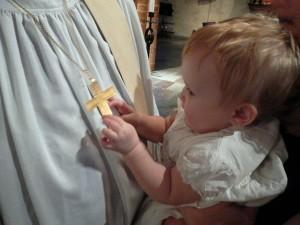 Barnet ville direkt greppa dopets betydelse