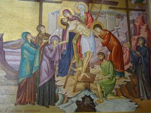 Mosaik i Gravkyrkan