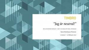 Jag är neutral!: religionskunskap i det pluralistiska Sverige