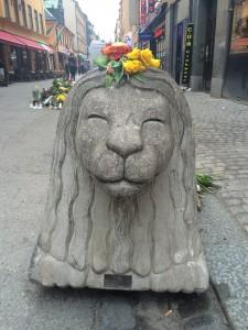 Stenlejon vid Drottninggatan. Foto: Malin Norrby