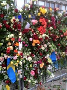 Blomsterväggen utanför Åhléns. Foto: Marianne Dahl Radhe