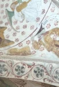 Medeltida framställning av Kain som antisemitisk stereotyp i kyrka i Uppland