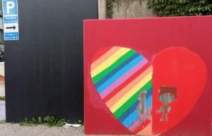 Muren pskylt hjärtat