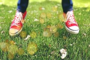 gräs skor