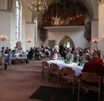 Ekumenisk mottagning i Kreutzkirche, Hannover.