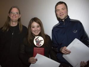 Leo Palmestål, Jennifer Jerez och Anders Rundberg Foto: M. Ringlander