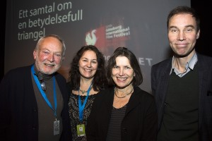 F v Truls Bernhold, Eva Staxäng, Ingrid Elam och UKON. Foto: Mikael Ringlander