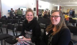 Emma Sandberg och Hanna Ericsson besökte Existentiell Filmfestival i Falun. Foto: Tomas Axelson