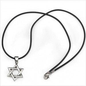 Mens-Stainless-Steel-Star-of-David-Necklace-Pendant-Magen-David-all