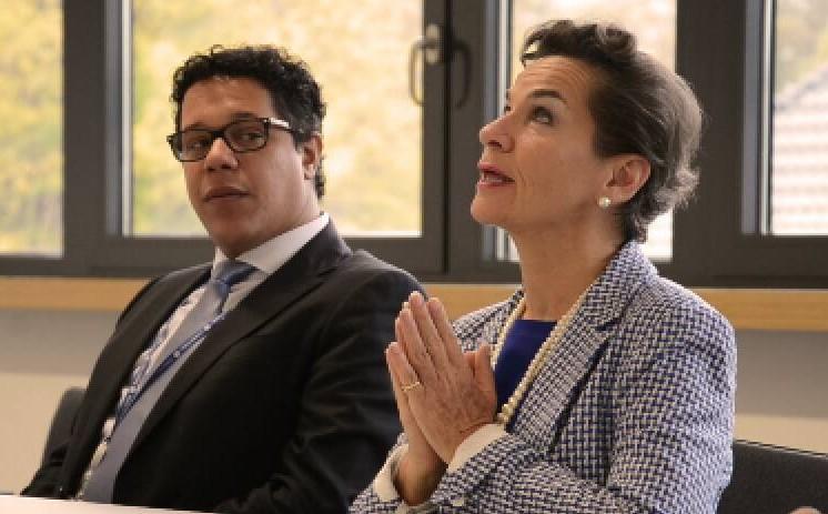 -  Det låter som en bra summering av ett framgångsrikt avtal i Paris, sa FN:s klimatchef Christiana Figueres när 154 religiösa och andliga ledare från 50 länder i världen lämnade över ett upprop om ett ambitiöst och rättvist avtal. Foto Sean Hawkey