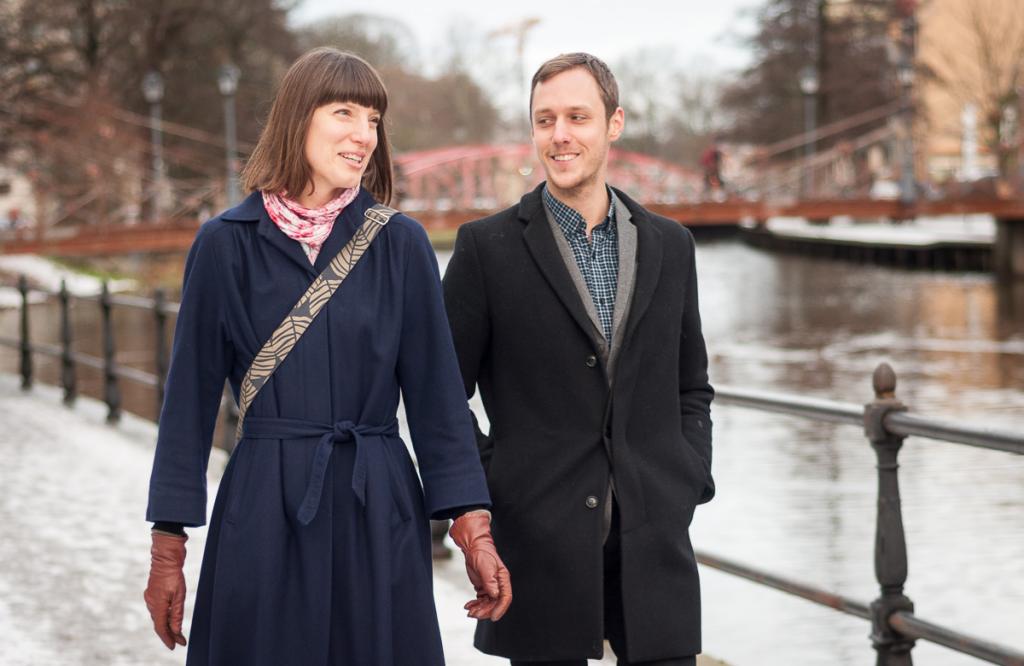 Klimatrådgivarna Anna Axelsson, Diakonia och Martin Vogel, Svenska kyrkan är civilsamhällets röst och öron på klimattoppmötet på plats. Foto: Gustaf Hellsing