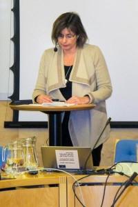 Biståndsminister Isabella Lövin berättar om Sveriges prioriteringar inför World Humanitarian Summit. Foto: Therése Jonsson