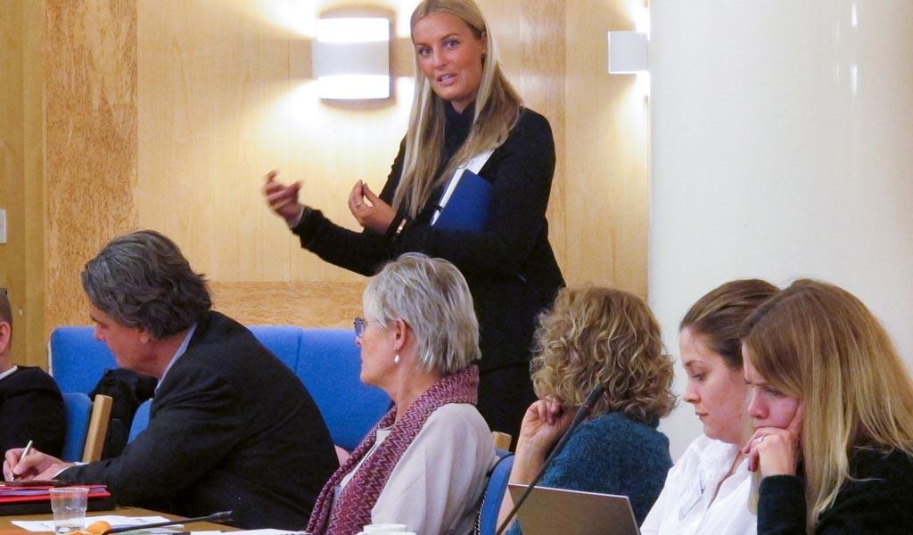 Sofie Grundin berättar om projektet Local to Global. Foto: Therése Jonsson