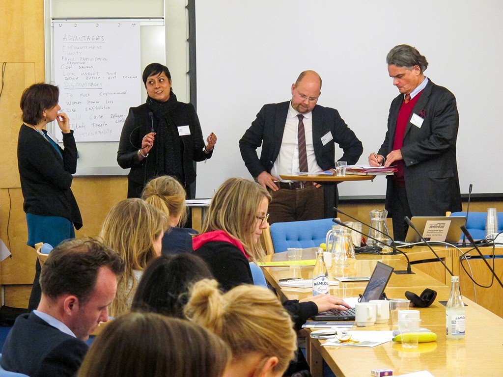 Panelsamtal med Kristina Hellqvist, Reshma Adatia, Peter Lundberg och Per Örnéus. Foto: Therése Jonsson