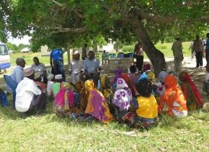 Beneficiaries in Productive Social Safety Net in Fukayose village, Tanzania