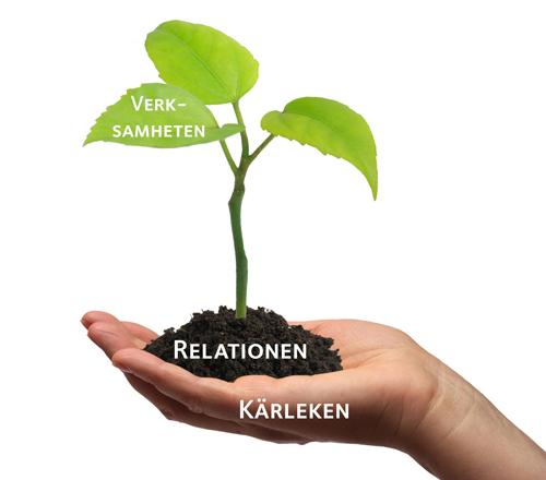 När vi börjar i kärleken och relationerna, då kommer det att visa sig vilken verksamhet vi skall skapa.