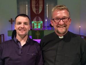 Darren Howie och Mark Rodel gästade Skövde och S:ta Helena kyrka