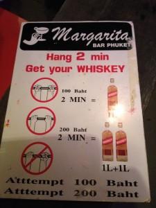 ...vilket givetvis beror på att priset bestod av Thailändsk Whisky, och det dricker vi inte.