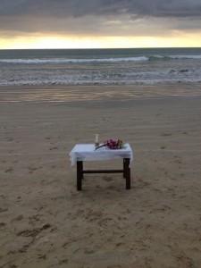 Vårt altare i en solnedgång.