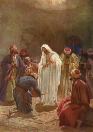 Den uppstånde Jesus besöker lärjungarna.