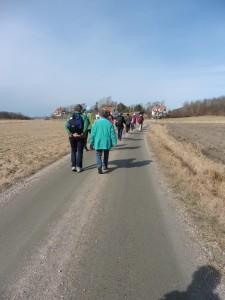 Pilgrimsvandring annandag påsk 2016. Foto Maria Eliasson