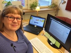 Carina Etander Rimborg, kommunikatör på Svenska kyrkan Tjörn. Foto: Selfie