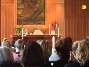 Högmässa på Åh stiftsgård. Foto Carina Etander Rimborg
