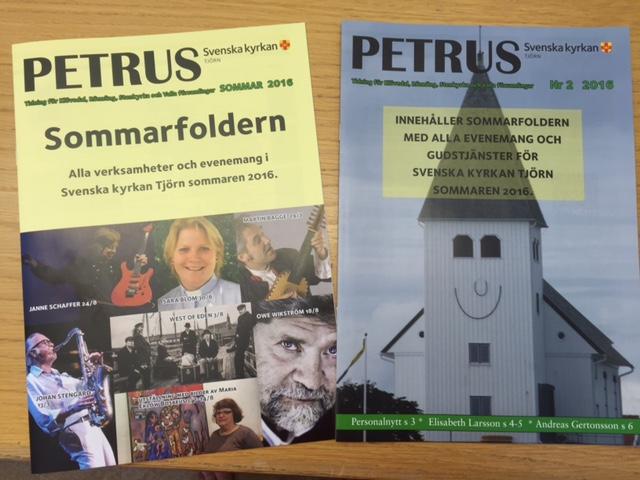 Petrus 2/2016 inklusive sommarfoldern. Två tidningar i en! Foto Carina Etander Rimborg