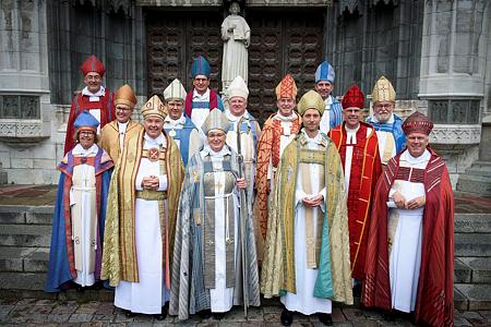 Svenska kyrkans biskopar (6 sept 2015) Foto Magnus Aronsson/IKON