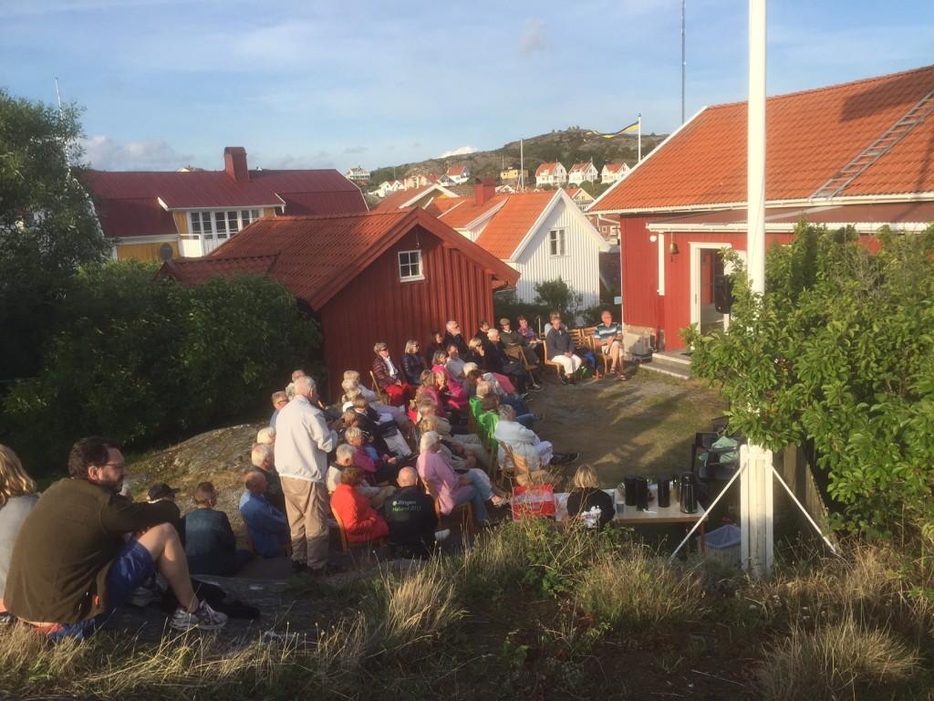 Härön 8 juli 2016. Eva Blume och Gjert Magnusson. Foto Owe Berntsson