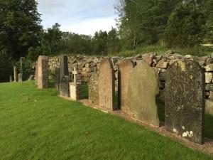Lapidarum på Valla kyrkogård. Foto Carina Etander Rimborg