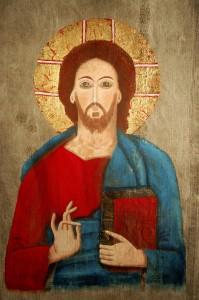 Jesus. Målad av Mats Hermansson.