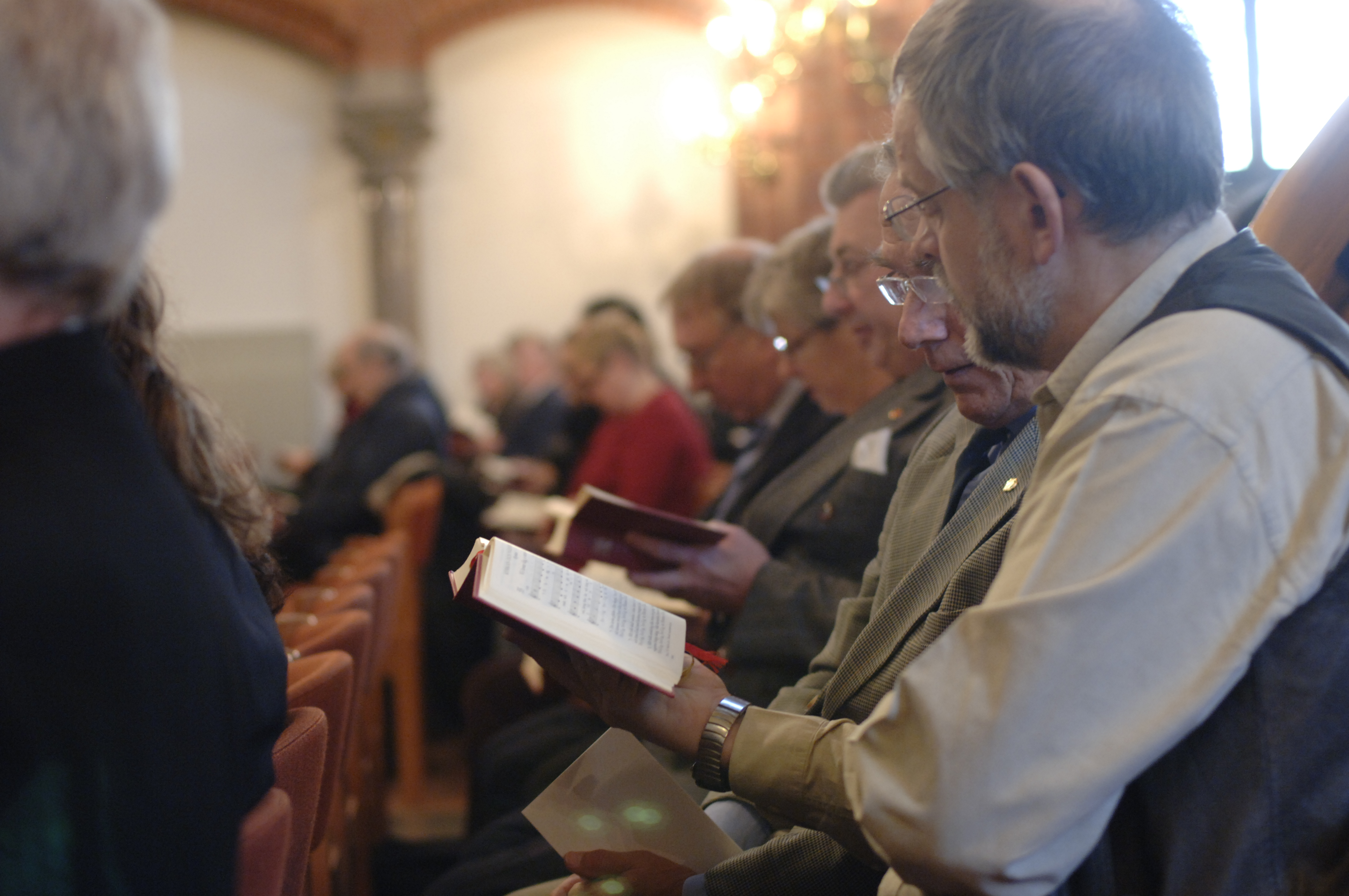 Psalmsång. Foto Jim Elfström IKON