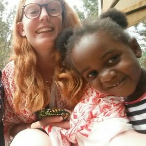 Hanna Lavén i Tanzania Foto: Privat
