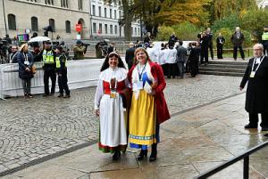 Karin Perers (ordförande kyrkomötet) och Carina Etander Rimborg (2e vice ordförande kyrkomötet). Foto Magnus Aronson IKON