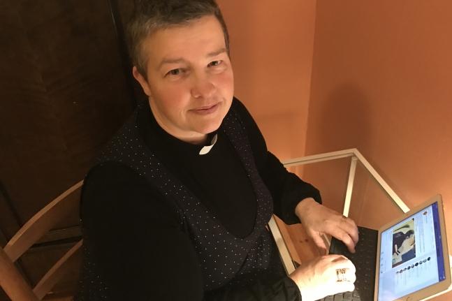 Charlotte Frycklund, präst på Sociala medier. Foto Kyrkans Tidning
