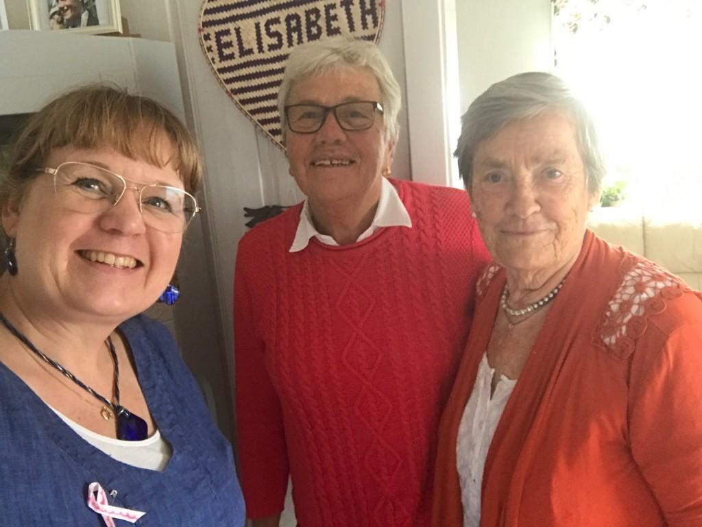 Carina, Birgit Olsson och Elisabeth Ivarsson. Foto Carina Etander Rimborg