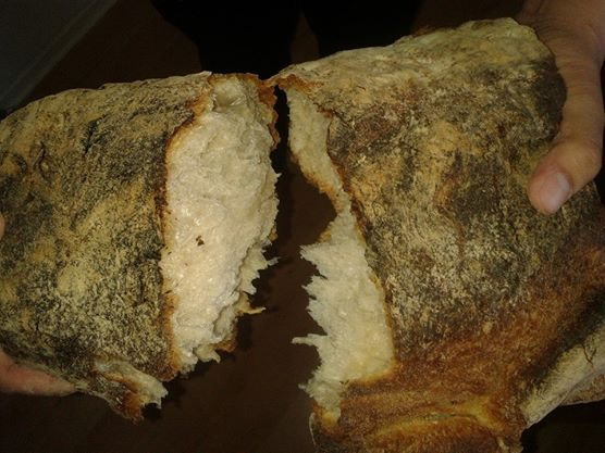 photo breaking of bread (I took this)