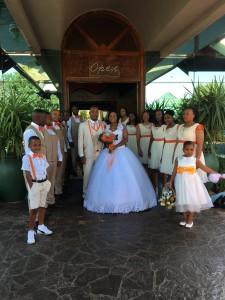 Och häromdagen var vi bjudna på bröllop. Fint!
