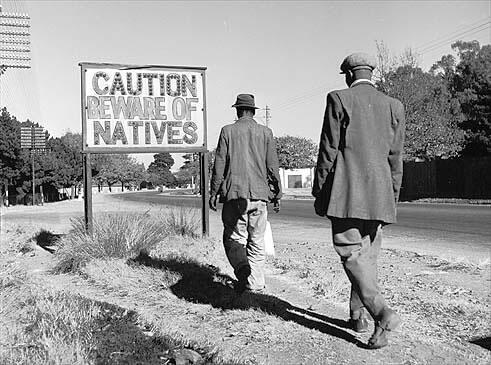 På infödingarnas område. Gammalt foto från ghetto.