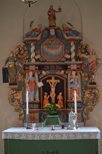 En vacker altaruppsats är det också!