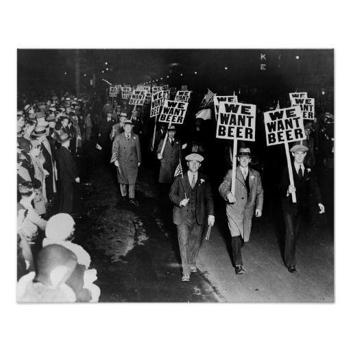 Demonstration mot spritförbudet i USA, tror jag.