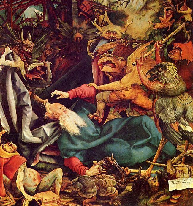 Stackars Antonius har en hel del att hantera ser det ut som. Men så kunde han också det där med att vända sig till Gud efter hjälp.