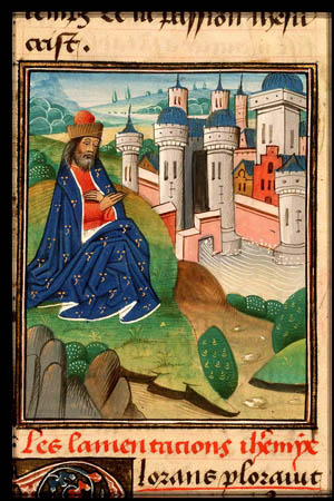 Jeremia klagar över Jerusalems fall