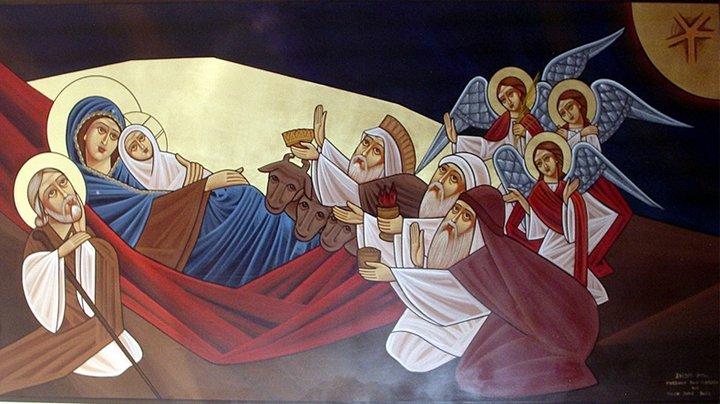 Det finns så mycket fantastiska julbilder. Som denna koptiska ikon.