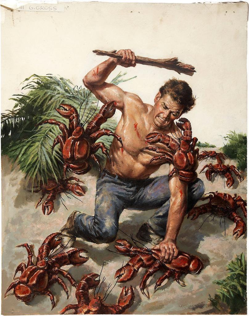 Att försvara sig mot krabbor kan man göra såhär. Ska man försvara tron är argument bättre. Och dikter.